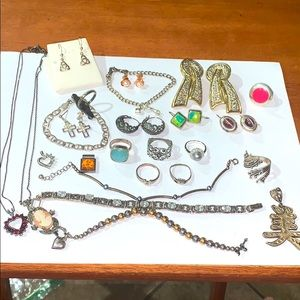 Huge Lot 925 Sterling Silver Collection